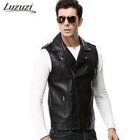 Pu Leather Vest Men Winter Bodywarmer Colete Fashion Motorcycle Sleeveless Jacket High Quality Male Warm Waistcoat