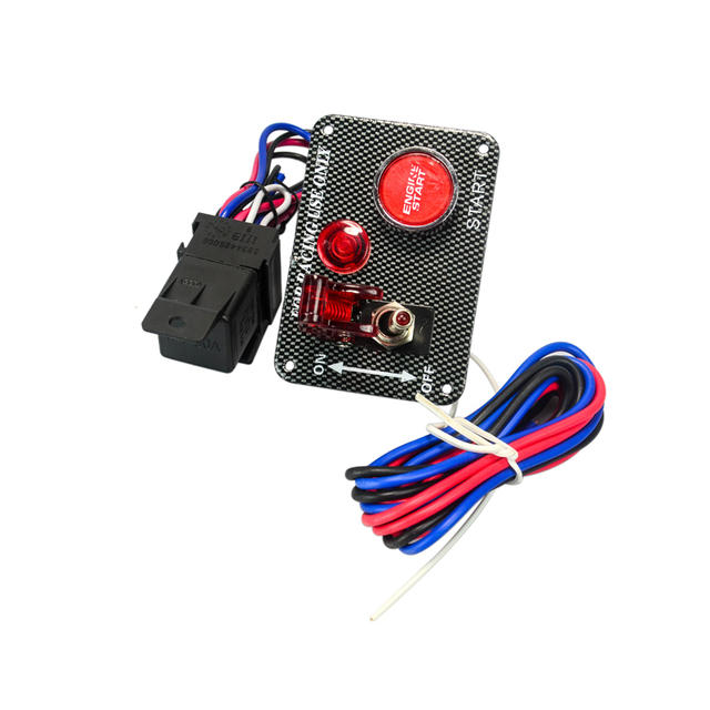 PQY - High quality Car 12V Switch Ignition Engine Panel Switching Start Push Racing Car Button 2 Toggle hot PQY-QT312