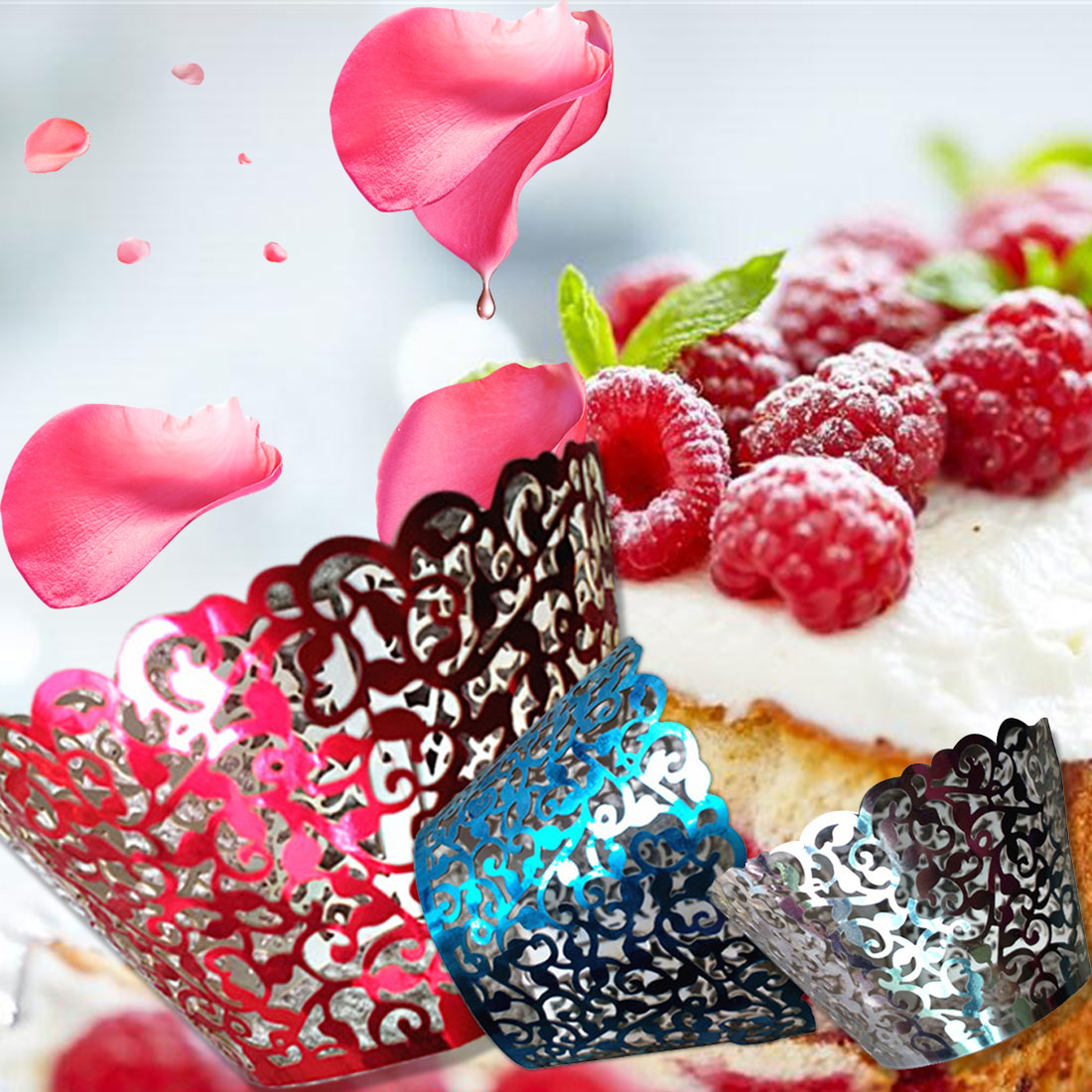 Home Cake Decorating Supply Co: 12Pcs Vine Lace Cup Cake Box Cut Paper Wedding Cupcake