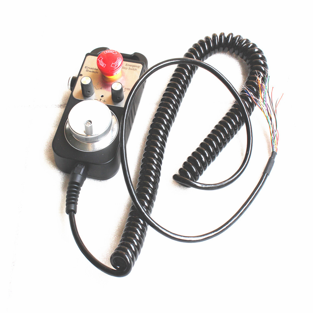 Upgraded DDCSV3.1 3/4 axis 500KHz G-Code Offline Controller+Handwheel All Metal Cases DDCS V3.1 Replace Mach3 USB CNC Controller
