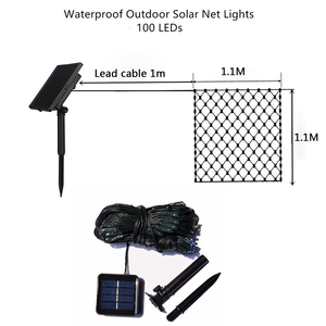Image 4 - Solar powered Led Net Mesh String Light 1.1x1.1M 2x3M Home Garden Window Curtain Decoration lights for Christmas Wedding Party