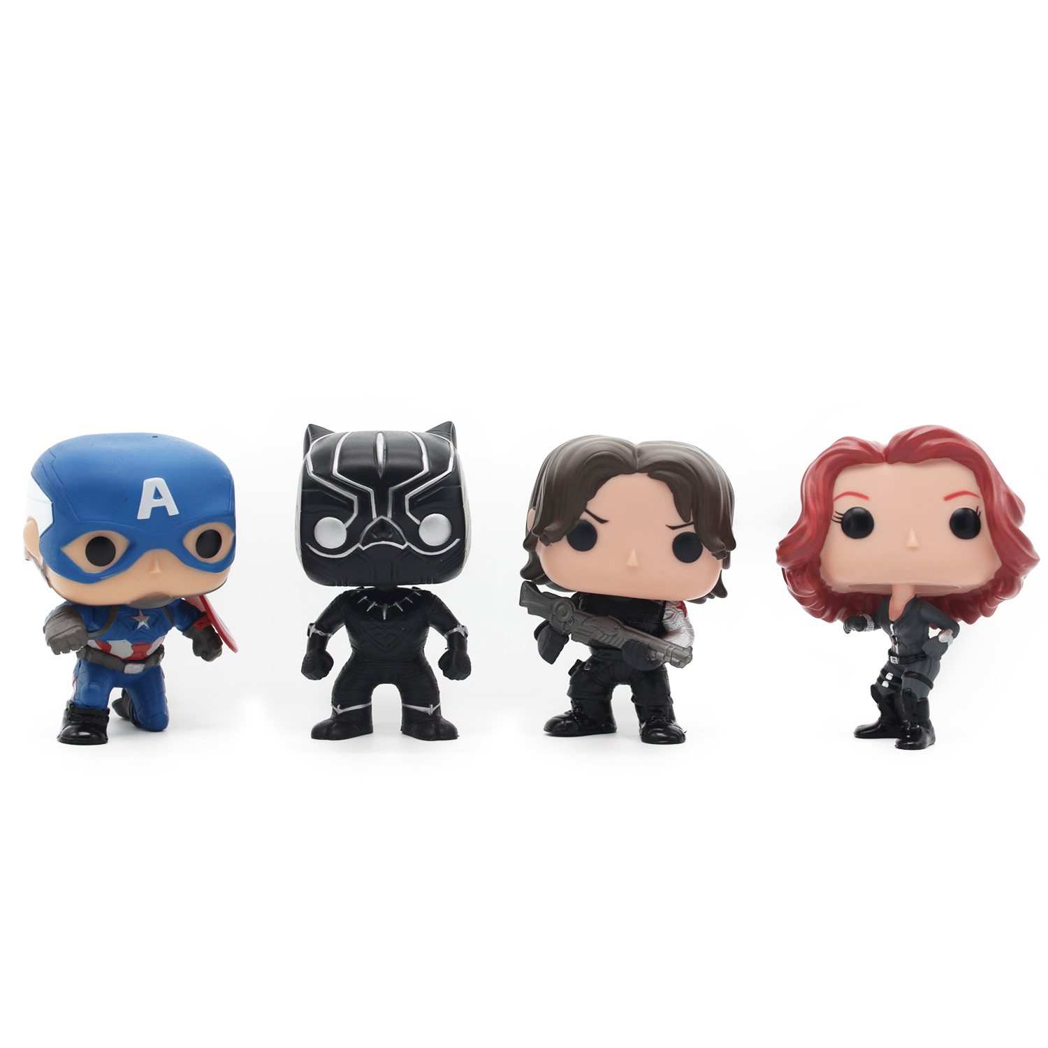 Chanycore Funko Pop Avengers Marvel Captain America Civil War Black Widow Panther Winter Soldier Vinyl PVC Action Figure toy marvel captain america civil war scarlet witch black panther winter soldier falcon pvc action figure collectible model toy