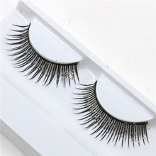 a pair of beauty with sequined nightclub exaggerated fashion  glitter eyelashes
