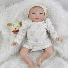 Magnetic Mouth 20 Inch 50 cm Silicone Reborn Baby Boy Newborn Babies Toy Lifelike Cloth Body Dolls Kids Birthday Xmas Gift