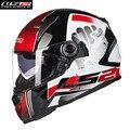 LS2 casco de Moto Casco Integral De Fibra De Vidrio de La Calle Motobike Motocicleta Casco Casque Cacapete Kask FF396z Hombres Racing Cascos ECE