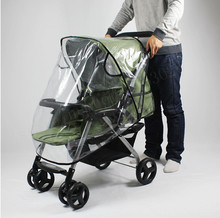 baby stroller accessories raincover waterproof cover for pram rainshade umbrella dustproof Non-toxic Tasteless PU