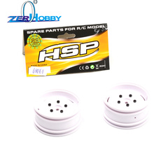 HSP RGT SPARE PART CAR ACCESSORIES PRE-MOUNTED TIRE SET OF 1/10 136100 Wheel type 2 ( White )68161