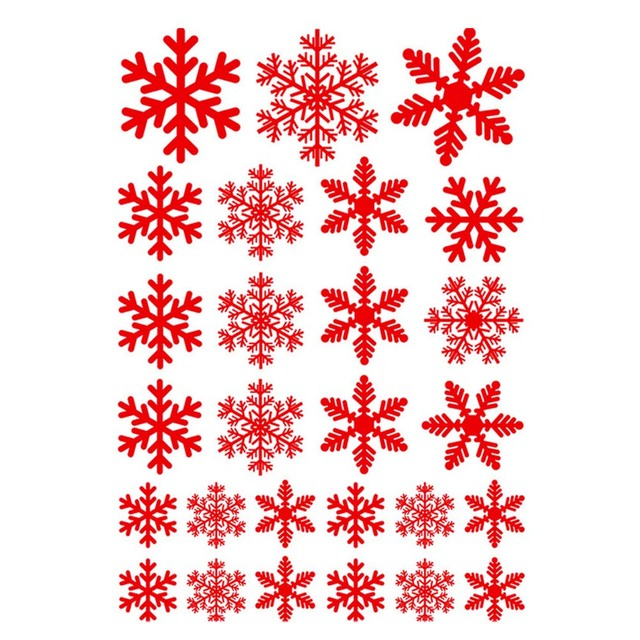 diy snowflake merry christmas carton wall stickers mural happy new year white snow frozen decal vinyl