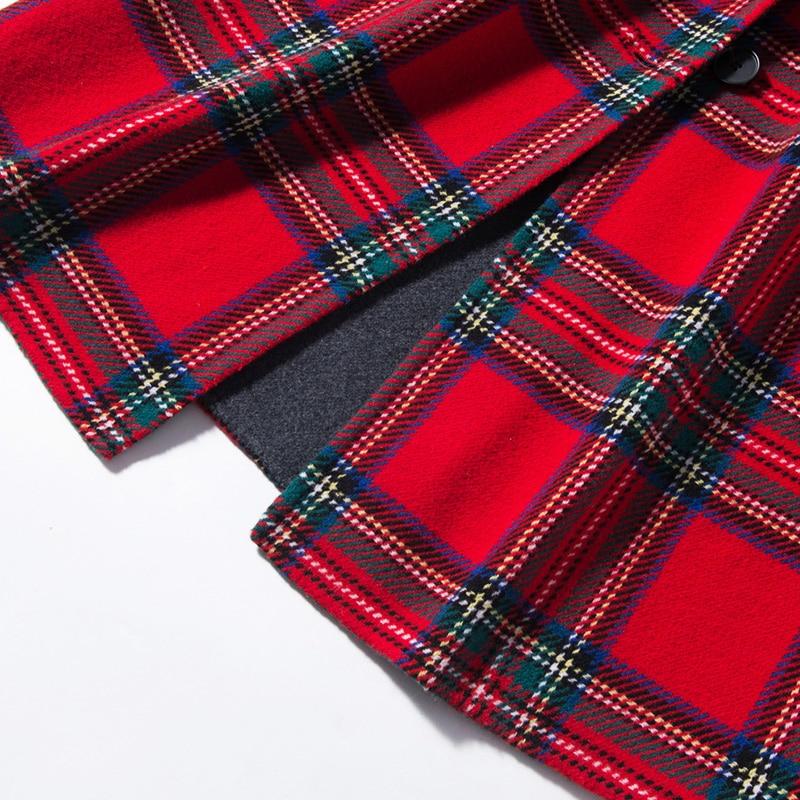 Grille Douce Longue Australienne Haute De Pur Tricoté 2018 Nouveau Hiver Laine Noir Qualité Style Pardessus Dames Chaleur rouge Modèle wq7fa7xR