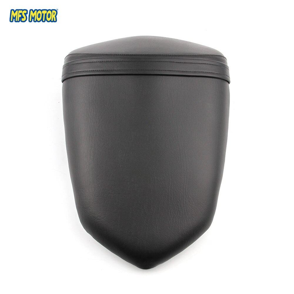 Leather Rear Seat Motorcycle Passenger Pillion For Kawasaki ZX250R 2008 2009 2010 2011 2011 08-12 Black