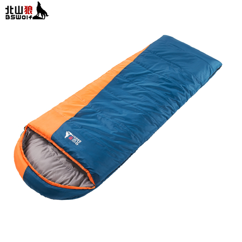 BSWolf Portable Outdoor Sleeping Bag Camping 3 Seasons Sleeping Bag Warm Thickening Adult Travel Spliced Double Sleeping Bag polaris pvc 1617go
