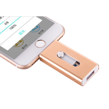 USB FLASH DRIVE OTG 64GB 128g Pen Drive 3 in 1 u disk for apple iphone Memory stick 16gb luxury android USB 2.0 pendrive i drive цена