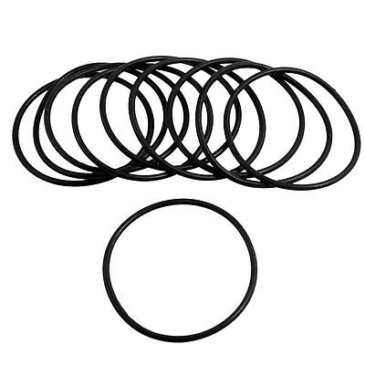 10 Pcs 2 5mm X 54mm Rubber Sealing Oil Filter O Rings Gasket Black