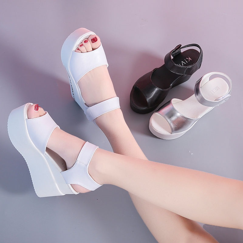 35-39 Size Summer Women Shoes 8cm-9cm Heel Height Open Toe Women Sandals Fashion Sandals Peep-toe Platform Lady Summer Shoes