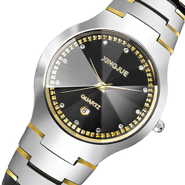 dcdfa89f969 High Quality Brand Lover s Watch Tungsten Steel Luxury Wrist Watches Women  Men Expensive Wristwatches Couple Rose Gold Reloj