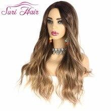スリ髪ロング波状女性の合成繊維偽の髪ピンク黒ブロンドかつらナチュラル 色 ''ことがまっすぐに 7