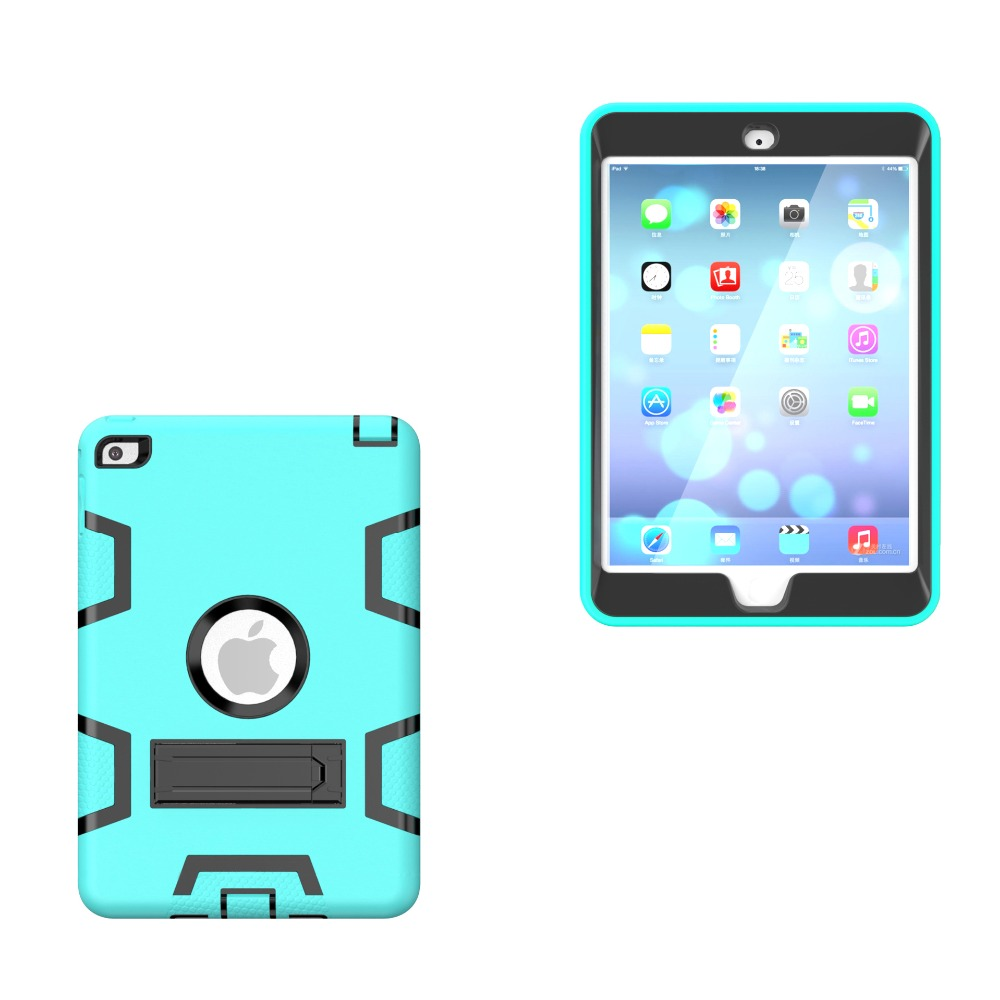For iPad mini 1/2/3/4 Retina Kids Baby Safe Armor Shockproof Heavy Duty Silicone Hard Case Cover For ipad mini4 mini3 mini2 1