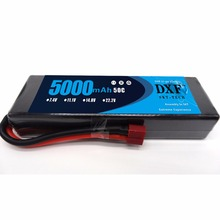 DXF Lipo Battery 2S 7.4V 5000mAh 50C Li-Polymer RC Car Packs  for Boat UAV Drone FPV 1 / 10 8 Drift
