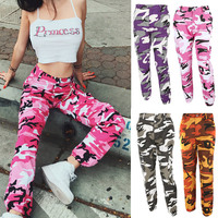 New Fashion Spring Autumn Women Sexy Long Jean Pants With Pocket High Waist Camouflage Printing Lady Girl Loose Casual T FS99