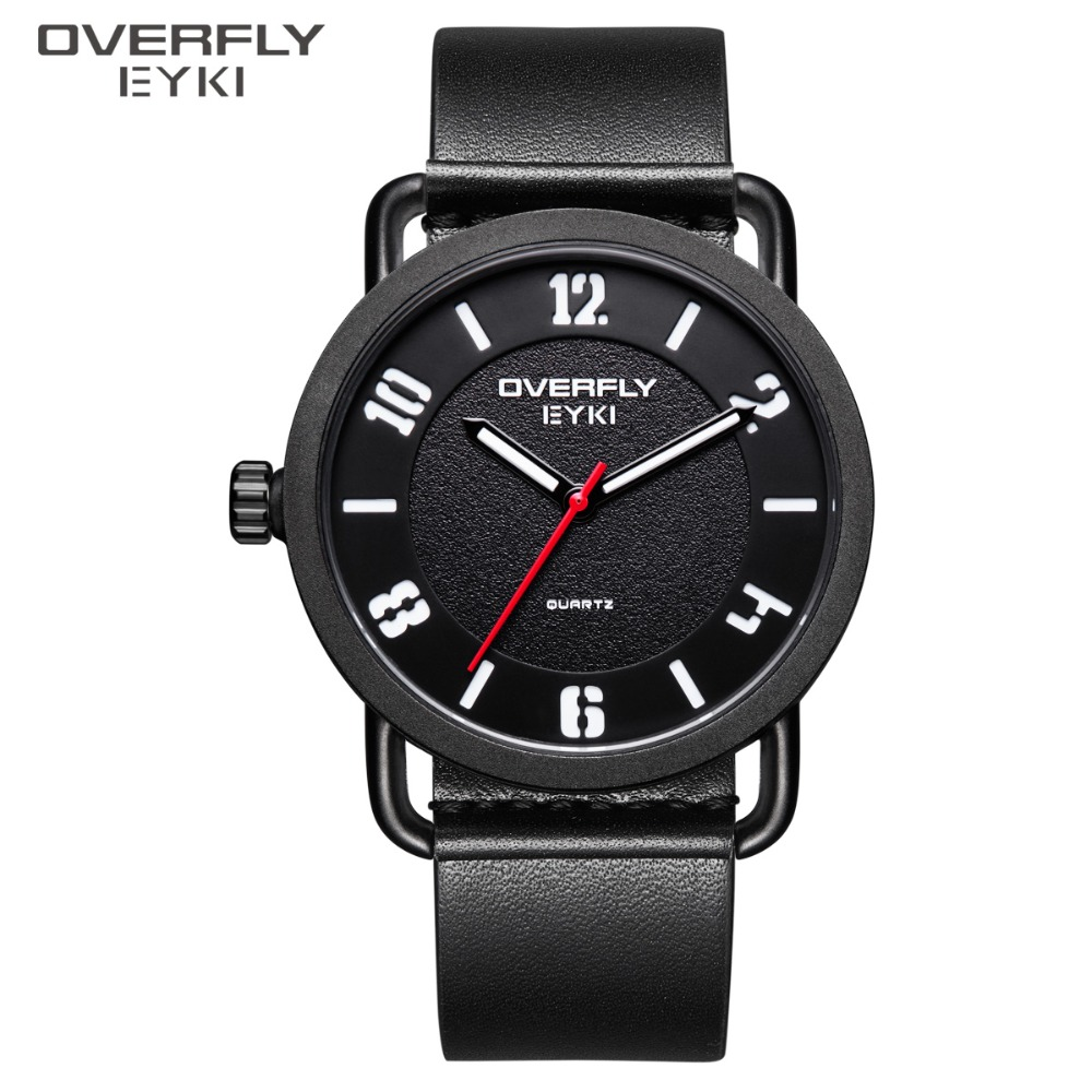 EYKI Brand Simple Men Watches Quartz Mens Watch With Luminous Pointe  Male PU Leather S Wristwatch Clock