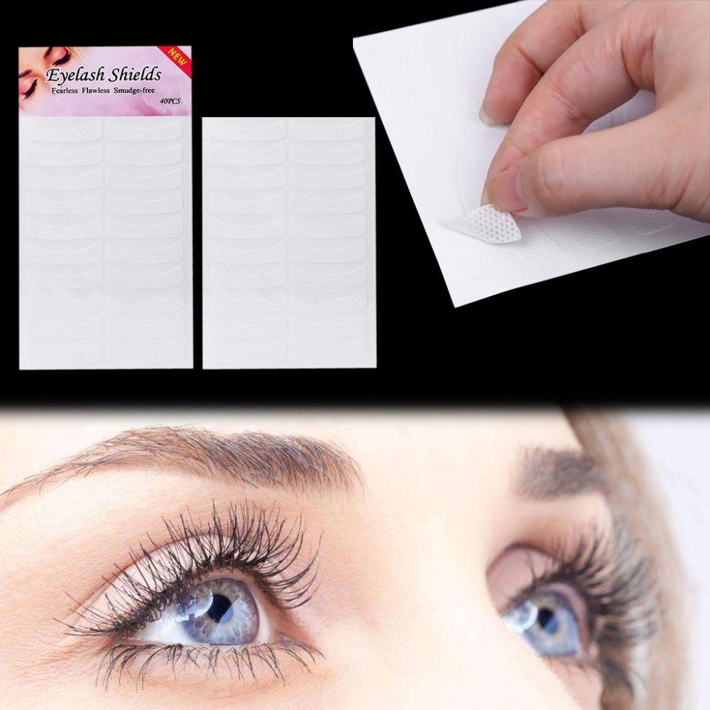 FSHALL 40 Pairs Eyelash Lash Individual Extension Tools Supply Medical Tape Makeup New