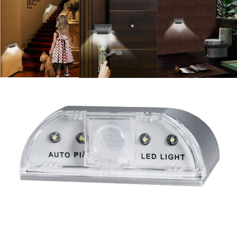 1 Piece Night Light with 4 LED PIR Infrared Detection Motion Light Intelligent Auto PIR Door Lock Induction Lamp1 Piece Night Light with 4 LED PIR Infrared Detection Motion Light Intelligent Auto PIR Door Lock Induction Lamp