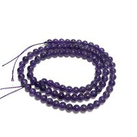 There are A grade natural amethyst semi finished balls with a size of 12 mm for DIY Bracelet necklace with silver jewelry