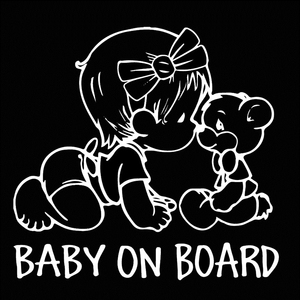 Image 2 - 14*15 سنتيمتر سيارة ملصق الطفل على متن باب السيارة نافذة التصميم ملصقات جدار دراجة نارية اكسسوارات السيارات تصفيف السيارة