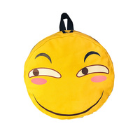 2017 Women Emoji 3D Canvas Backpack Rucksack Schoolbags For Girl Teenagers Casual Smiley Face Funny Travel
