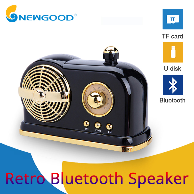 Retro Bluetooth Speaker Portable Wireless Speakers Column Bass Stereo Subwoofer Support TF Card USB disk Music Player