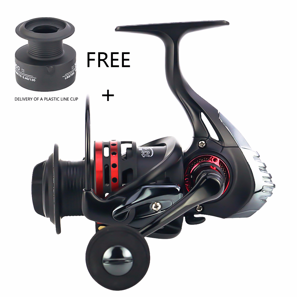 New REELSKING 1000- 7000 Fishing Reel 13+1BB 5.5 : 1 Metal Spool Spinning Fishing Reels Folding Handle carbon cloth brake pads