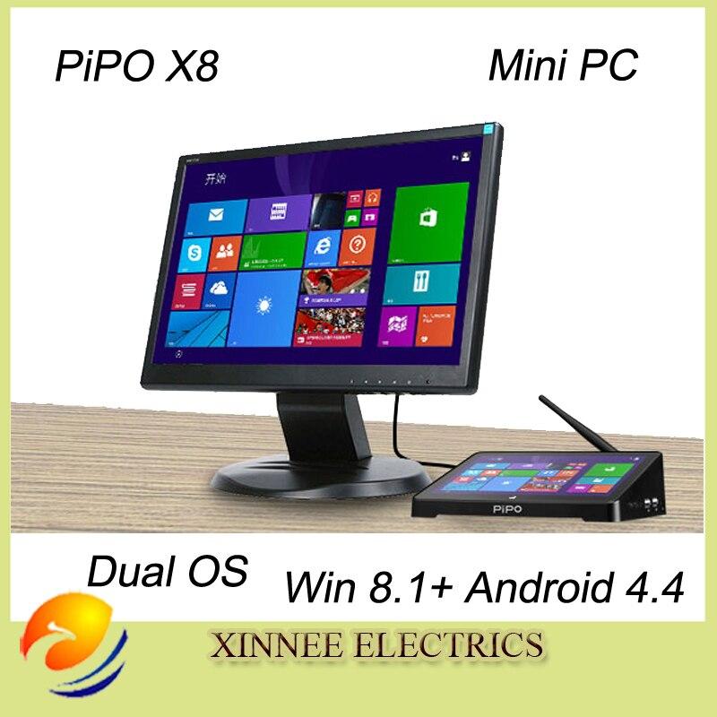 """Prix pour PIPO X8 Windows8.1 et Android 4.4 Intel Z3735F Quad Core Dual Boot OS Intel Z3735F Quad Core Mini PC 7 """"Tablette Mini PC TV Box"""