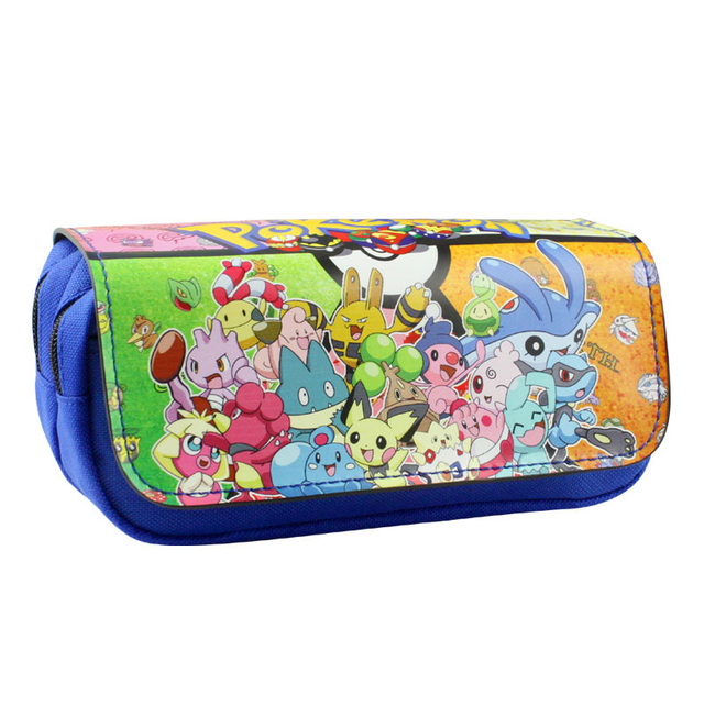 d4b1b175fbf Cartoon Etui Pokemon Pikachu Purse Boutique School Kantoorbenodigdheden  estojo de lapis Briefpapier Gift Kids Pen Tassen