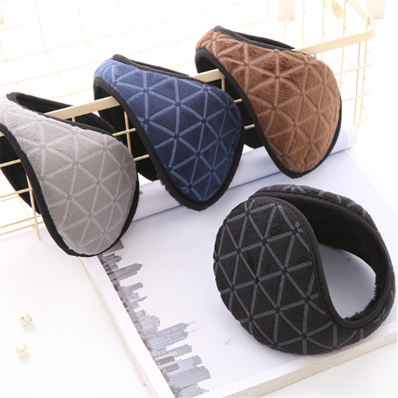 4 Winter Men's Fashion Heat Geometric Ear Muff Wearing Cold Proof Fashion Ear Bag Gift