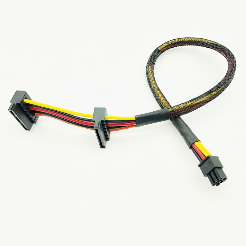 HDD SSD SATA кабель питания для Dell Vostro 3668 3667 3650 SATA жесткий диск SSD блок питания 6Pin к двойному SATA разъем адаптера