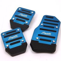2015 Specials Universal MT Racing Sport 3pcs Non Slip Aluminum Manual Car Pedals Pad Blue Free