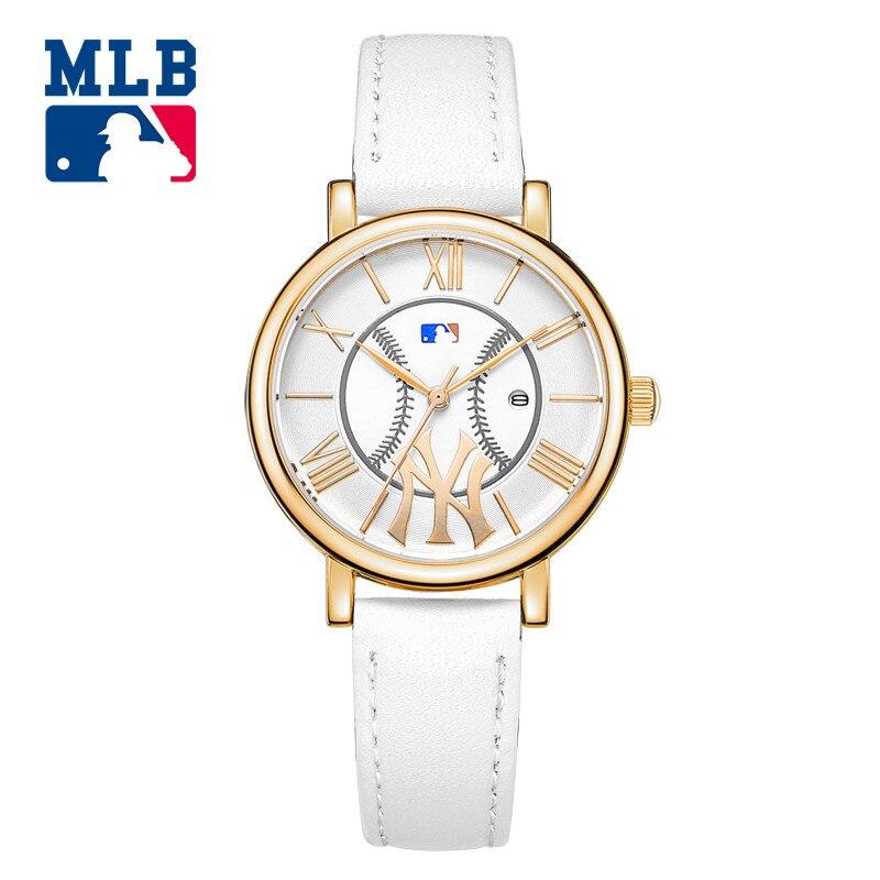 e4cc028b1f31d1 MLB mode en plein air personnalité en cuir bracelets calendrier alliage  quartz dames montre étanche YH007