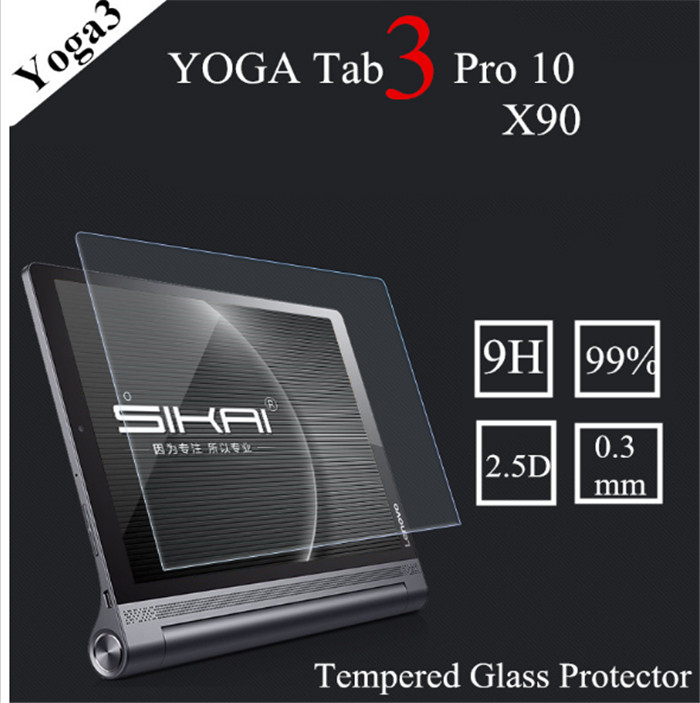 Galleria fotografica 2Pcs 9H Tempered Glass Screen Protector Film for Lenovo Yoga Tab 3 Pro 10 X90L X90F + Alcohol Cloth + Dust Absorber