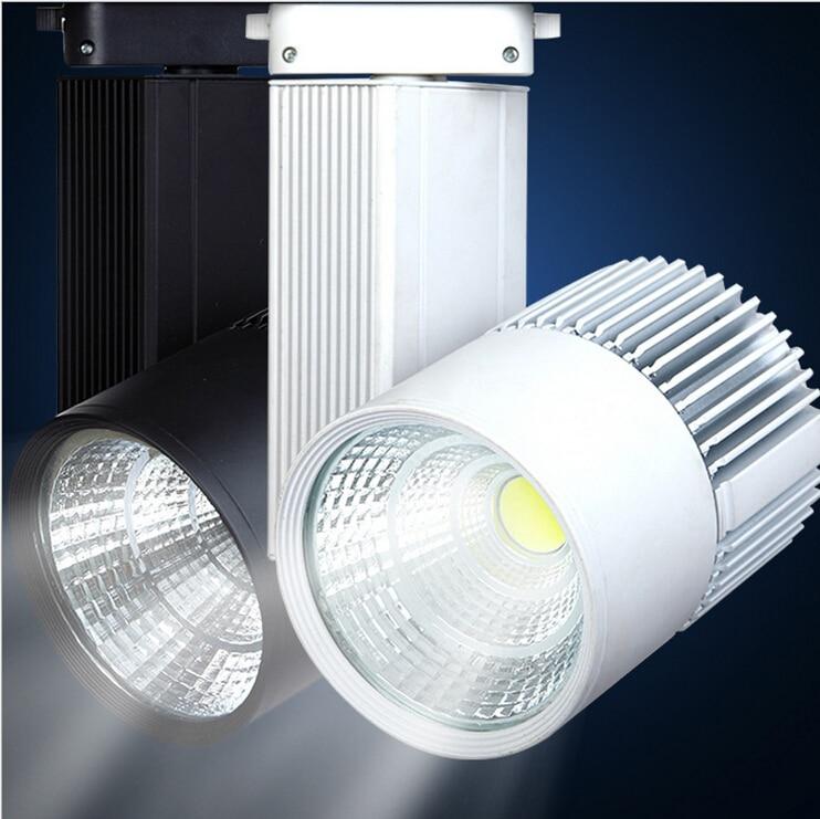 LED Track Light 30W COB Rail Light Spotlight Lamp Replace 300W Halogen Lamp Warm Cold Natural White Led track lamp AC85 265V in Track Lighting from Lights Lighting