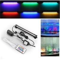 5050 RGB LED Remote Kleurrijke Luchtbel LED Aquarium Licht Aquarium Koraal Lamp Buis Hot onderwater licht Strip voor vis