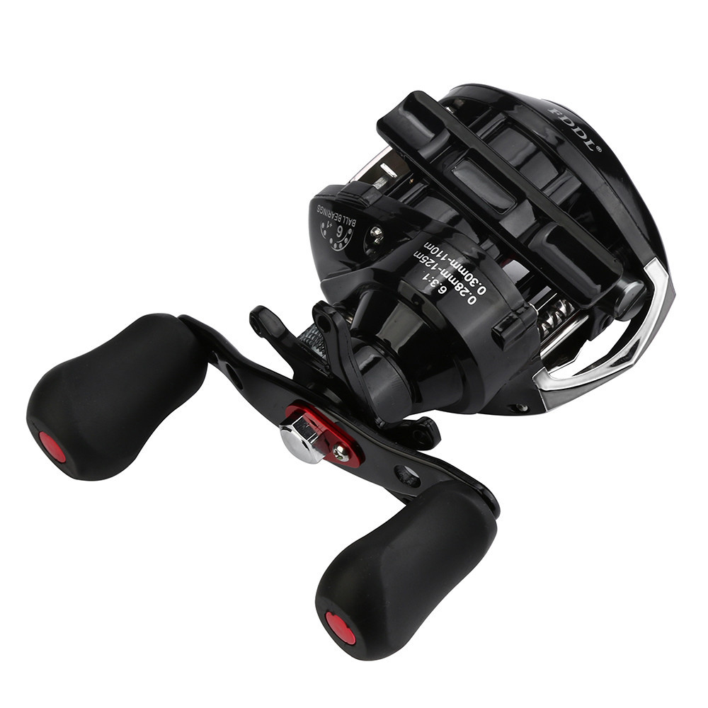 USPS Right or Left Reel Bait Casting Fishing Reel Magnetic and Centrifugal Dual Brake LG-200 6 + 1 Bearing Black Fishing Reel #1