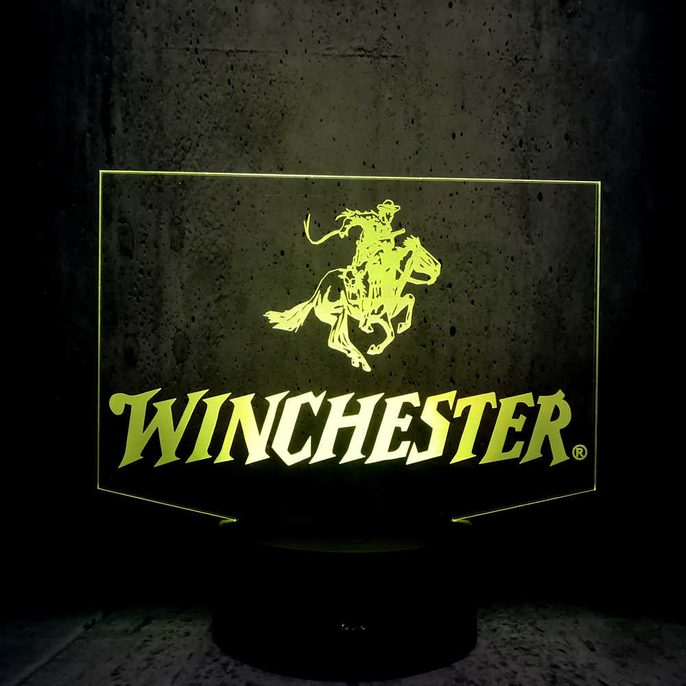 Astonishing Winchester Led Lamp 3D Night Light Cool Guy Exhibition Man Ts Friends T Bedroom Desk Decor Lighting Club Display Lava Download Free Architecture Designs Rallybritishbridgeorg