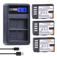 3Pcs 1860mAh DMW-BLF19E DMW-BLF19 Li-ion Battery DMW BLF19 BLF19 BLF19E + LCD Dual USB Charger for Panasonic Lumix GH3 GH4 GH5