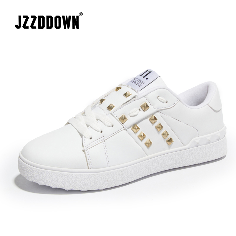 Women Casual Shoes Couples Lover shoes Trainers Chaussures Femme Rivet Flats Zapatillas Mujer Damen Sapato Feminino Designer
