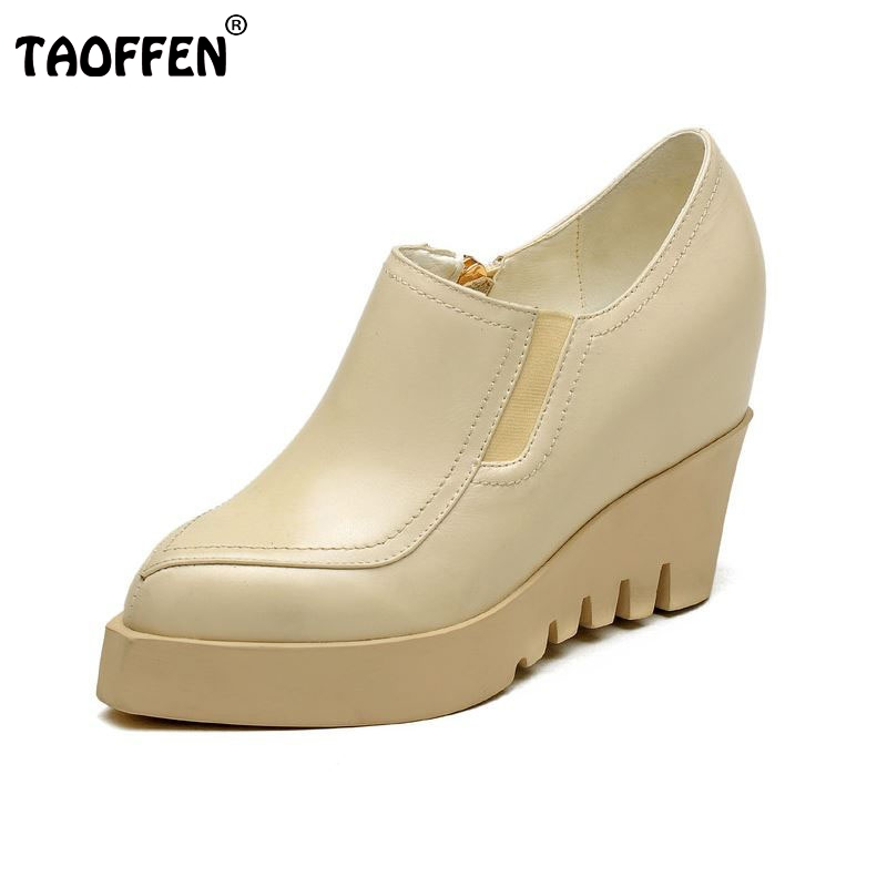 women real genuine leather stiletto wedges high heel shoes brand sexy fashion pumps ladies heeled shoes size 34-40 R6011 гитарный кабинет marshall code 412