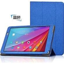 ocube Three-Folder Folio Stand Silk Print Sample PU Leather-based Instances Cowl For Huawei Honor Observe 9.6 Mediapad T1 10 T1-A21W 9.6″Pill