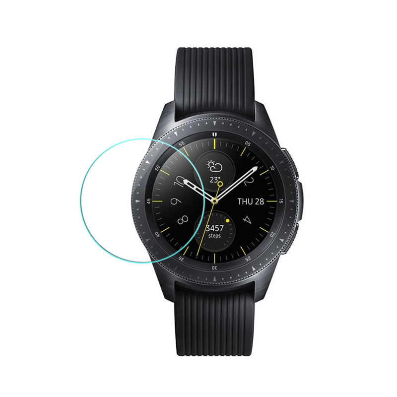 Tempered Glass for Samsung Galaxy Watch 42mm 46mm Gear S2 S3 S4 Screen Protector Cover Protective Film + Cleaning Kit