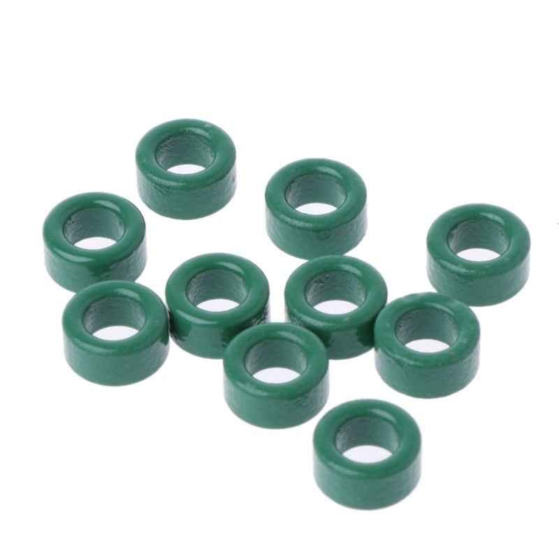 10 шт. силовой трансформатор Ферритовое кольцо индуктор катушка зеленый Железный тороидный ферритовый сердечник