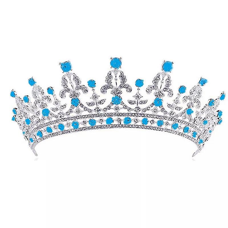 Luxury Princess Royal Rhinestone Crystal Crown Wedding Bridal Tiaras
