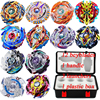 Beyblade Set 12pcs Gyro 3pcs Launcher 1pc Handle 1 Plastic Box Sticker Spinning Top Metal Funsion